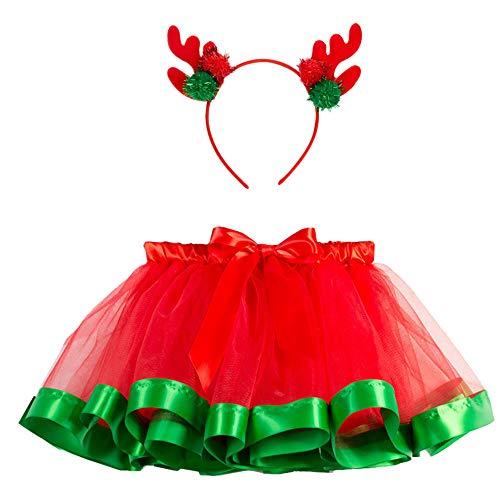 Yumimi88 Baby Weihnachten Tüll Röcke Prinzessin Kleid Kinder Party Kleid Tutu Mesh Rock Pettiskirt...