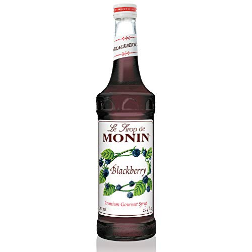 Monin - Blackberry Syrup, Soft and Succulent, Great for Cocktails, Lemonades, and Sodas, Gluten-Free, Vegan, Non-GMO (750 Milliliters), 25.5 Fl Oz