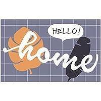 バスマット お風呂マット玄関マット 足ふきマット台所マット 速乾 丸洗い 消臭 快適 洗面所 玄関 キッチン 滑り止め付き ドア ふわふわ 絨毯 -葉_60 * 90 cm
