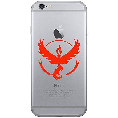 Pokemon Go–Team Valor Handy Laptop Tablet Auto iPhone 44S 55C 5S 6Galaxy S4S5S6, Android Vinyl Fenster Glas Wände Bumper Aufkleber Aufkleber (rot)
