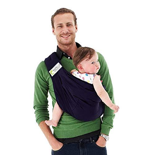 Shhjjpy Babytragetuch Kindertragetuch Babybauchtrage Ring Sling Tragetuch Für Baby Neugeborene Innerhalb 15 KG,Baumwolle,Darkblue