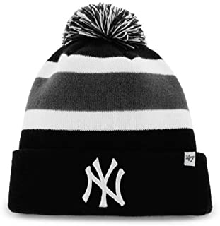 47 Brand Breakaway Cuff Beanie Hat with POM POM - MLB Cuffed Winter Knit  Baseball ·   f6d955bd88a4