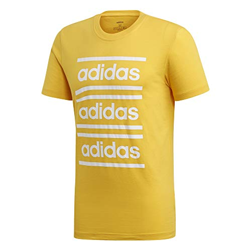 adidas Mens Celebrate The 90s tee T-Shirts, Hombre, Active Gold/White, XL