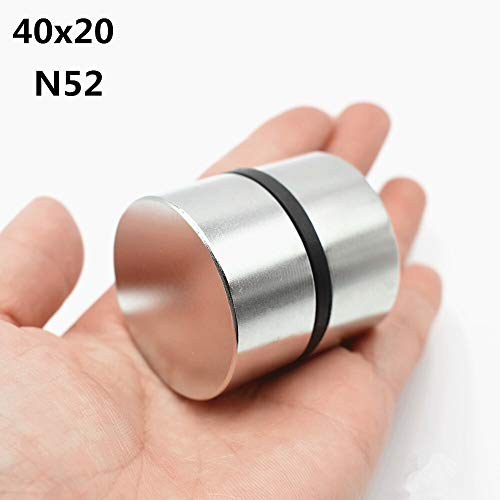 FJJ-Magnets, 2ST Magnet N52 40x20 Millimeter Super Strong Runde Leistungsstarke Galliummetall Magnetic Lautsprecher N35 40 * 20 Disc (Größe : N52)