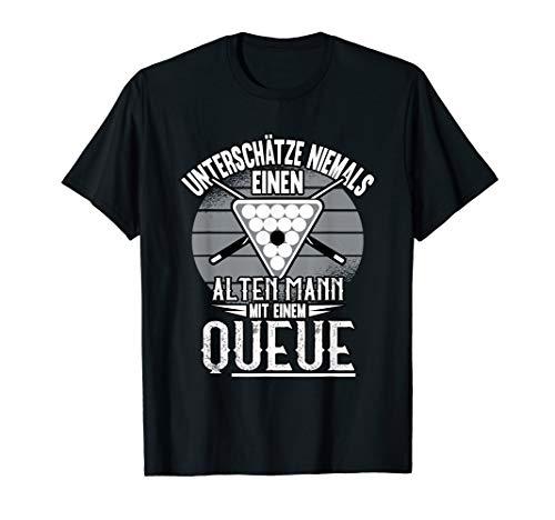 Alter Mann Billard Queue Pool Spieler Billardtisch Spruch T-Shirt