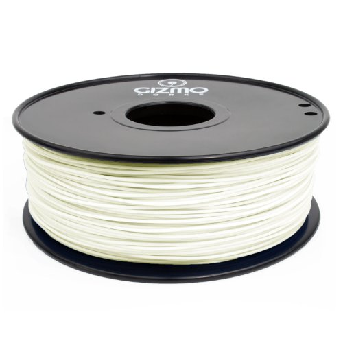 Gizmo Dorks 3mm (2.85mm) Hips Filament 1kg / 2.2lb for 3D Printers, White