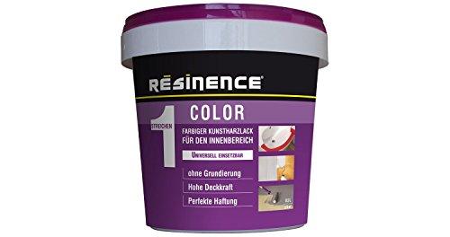 Resinence Zweikomponenten Epoxidharz Color Farbiger Kunstharzlack Seidenmatt Innen 0,25l, Farbe:Rot
