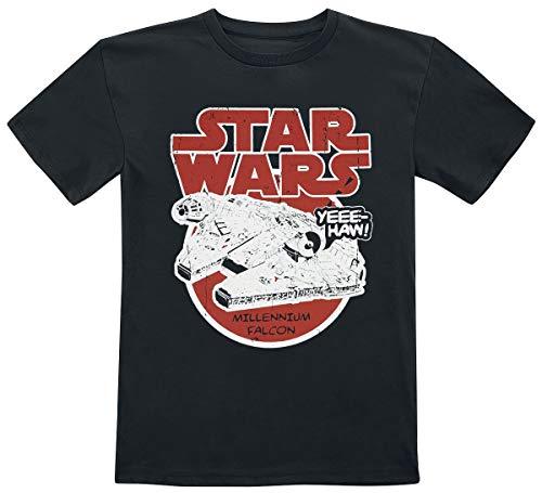Star Wars Faucon Millenium Unisexe T-Shirt Noir 152, 100% Coton,