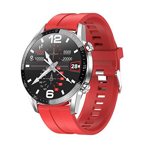 InnJoo Reloj Inteligente Hombre Smartwatch IJ-Men Wath Atom-Silver (Gel de sílice Naranja)...