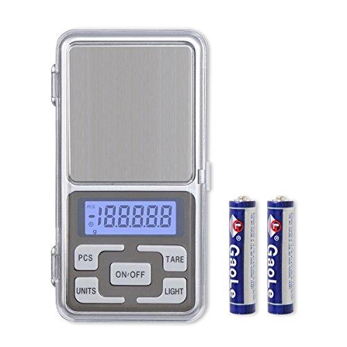 IDAODAN 改良版 携帯タイプ 0.01g-500g精密はかり 日本語取扱説明書付き 専用電池付き 業務用(プロ用)