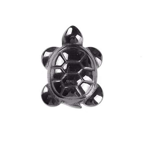 SHOYY Naturaleza hematita Piedra Tortuga Colgante 18 * 14 mm Grano del hematites Encanto de la joyería de Bricolaje Collar Que Hacen Accesorios for la Mujer de los Hombres