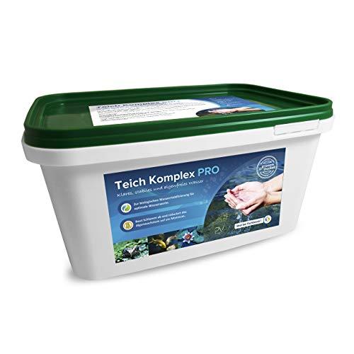 Profi-Vertrieb UG - Teich Komplex Pro 3,4kg zur Stabilisierung des pH-Wertes I Algenfreier Teich & Pool I Teichreiniger für Schlammabbau & Algenabbau I gegen Fadenalgen Schmieralgen Schwebealgen