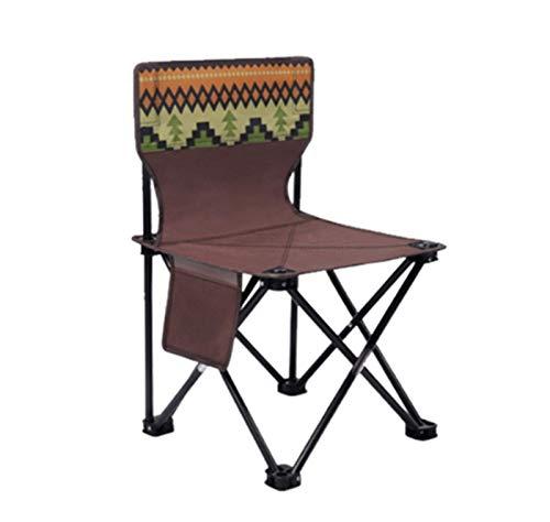 Silla plegable al aire libre para director, silla de playa, silla de boceto, tabla de pesca, taburete de coche, camping (tamaño mediano) ZZ666 (tamaño S: S)