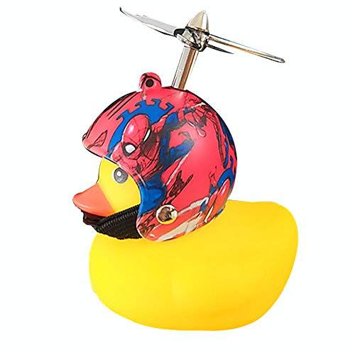 Chao Fahrradklingel,Neuheit Helm Gummi Yellow Duck Bike Horn,kleine und süße Fahrradklingel,für Fahrräder,Elektrofahrzeuge,Motorräder,Automobile,Kinderwagen