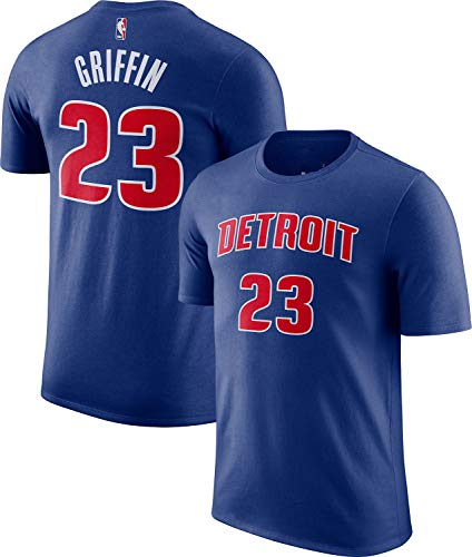 Outerstuff NBA Youth Performance Game Time Team Color Player Name and Number Jersey T-Shirt (Blake Griffin Detroit Pistons, Large 14/16)