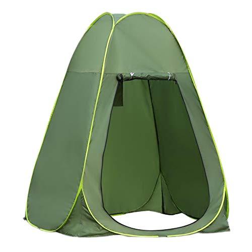 Milageto Tienda de Vestuario -UP portátil con Bolsa de Transporte, Vestir al Aire Libre/Ducha/Camping Inodoro/Pesca/Playa, Refugio de Mochila - 1,5 Metros Verde