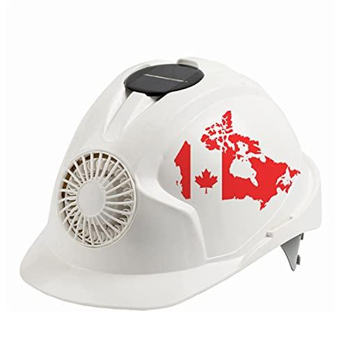 KLMM Canadá Casco de Seguridad al Aire Libre con Ventilador de refrigeración Solar Ajustable Seguridad Construcción Sunscreen Ciclismo Casquillo Protector (Color : White) 🔥
