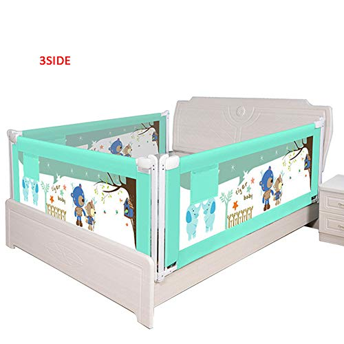 Great Deal! H-ULAN Bed Guard Rail for Toddlers Height Adjustable Extra Long Baby Safe Side Rail with...