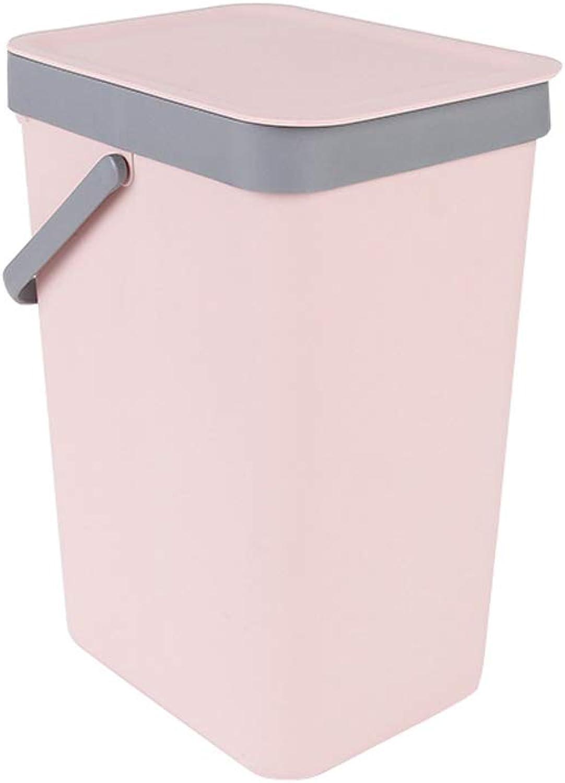 Portable Desktop Hanging Trash Can, Bathroom Study Computer Desk Melon Trash Can (color   Pink)