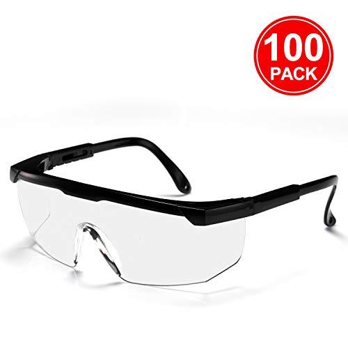 AVAWAY Occhiali di protezione Occhiali di sicurezza Occhiali protettivi Specchio a tutta vista, anti-schizzi, anti-shock, anti-sabbia, anti-appannamento