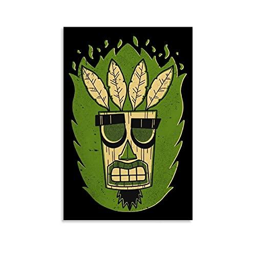 JUJUE Poster rétro Aku Mask - Impression sur toile - Décoration murale moderne pour chambre à coucher - 40 x 60 cm