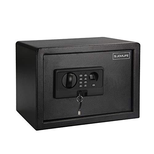 Jovilife Fireproof Safe Fingerprint Lock Cabinet Security Box - 0.8Cubic Feet,Best Money Safe,Home Keypad Depository Safe Backup Keys – Cabinet Safes,Protect Money, Guns, Jewelry,Documents, Passports