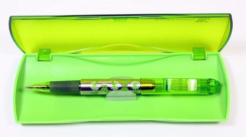 Gel Inoxcrom bolígrafos Vivaldi cuatro estaciones colores. Verde primavera. En caja de regalo. Tinta azul