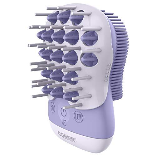 True Glow by Conair Waterproof Scalp Massager & Body Exfoliator