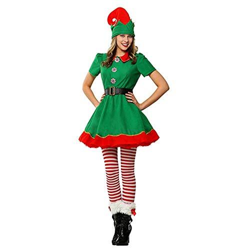 LJ123 Disfraz de Vacaciones navideñas Disfraz de Elfo Vestido de Elfo Disfraz de Elfo Ropa de Cosplay Escenario de Navidad Prom Performance