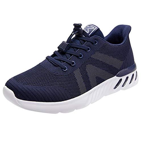 BoyYang Herren Laufschuhe Fitness Straßenlaufschuhe Unisex Sneaker Sportschuhe Mesh Atmungsaktiv rutschfeste Mode Schuhe Freizeitschuhe Turnschuhe Fitnessschuhe Trekking