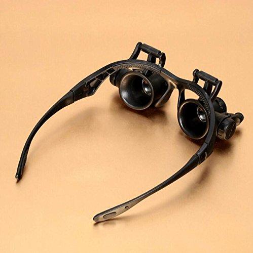 Lupe Brillen Lupe Mit 2LED Lampe Professionelle Uhr Reparatur Kopf Tragen Mikroskop ältere Kinder Weihnachtsgeschenk