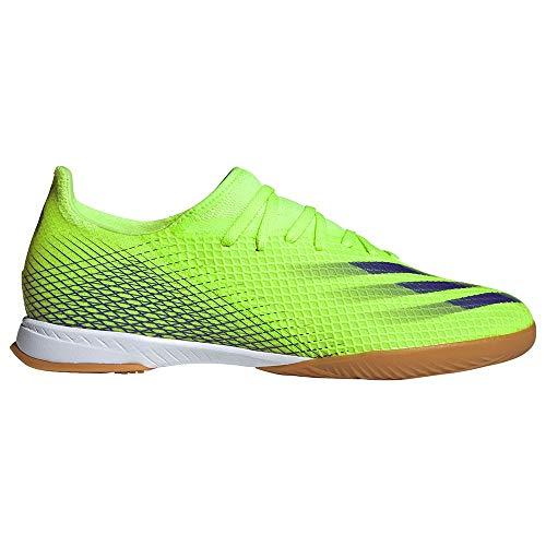 adidas X Ghosted.3 IN, Zapatilla de fútbol Sala, Signal Green-Energy Ink-Signal Green, Talla 12.5 UK (48 EU)