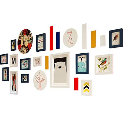Xiao Jian- foto muur met klok kinderkamer foto muur galerij set grote multiframe muur combinatie Multi fotolijst foto muur