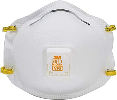 3M 8511 Respirator, N95, Cool Flow Valve (2-Pack) by 3M