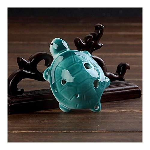 YUNGYE 6 Agujeros Ocarina Ocarina Dibujos Animados Tortuga Flauta de Viento Instrumentos Musicales Flauta Flauta de cerámica Zelda for Childen Juguete Ocarina (Color : Deep Blue)