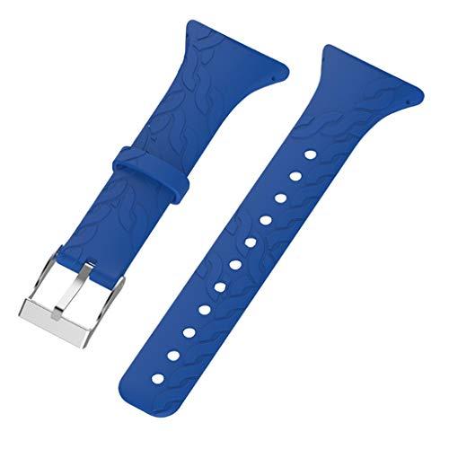 Almencla Bracelet Bande de Montre en Silicone avec Fermoir Métallique Kit de Remplacement pour SUUNTO Série M1 M2 M4 M5 - Bleu