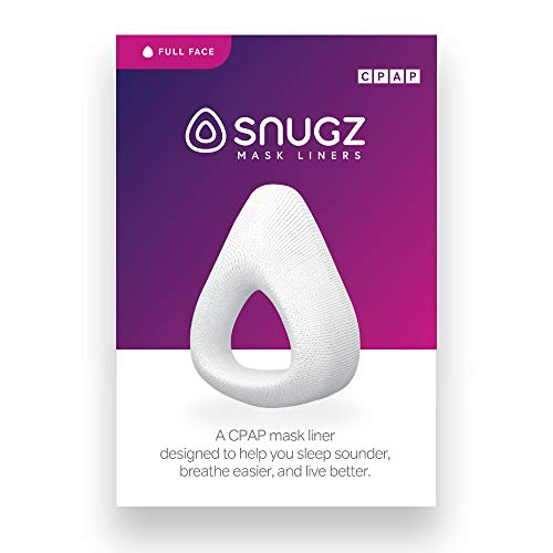 Snugz Mask Liners: Machine Washable Machine Washable, One-Size-Fits-Most CPAP Mask Liners, Pack of 2 Lasts 90 Days (Full Face Masks (Around Nose and Mouth))