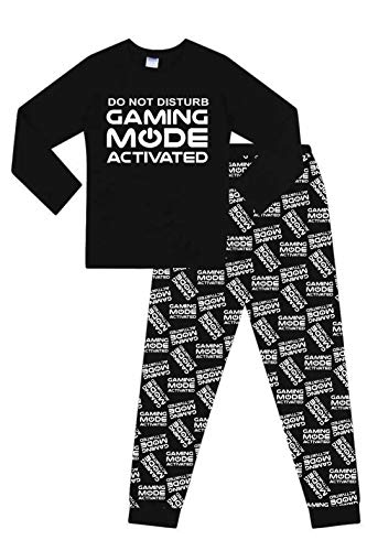 Do Not Disturb Gaming Mode Activated All Over Print Long Pyjamas Black White 15 16 Years