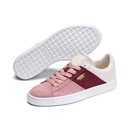 PUMA Damen Basket Remix Wn's Sneaker, Pink (Bridal Rose-Fired Brick), 38.5 EU