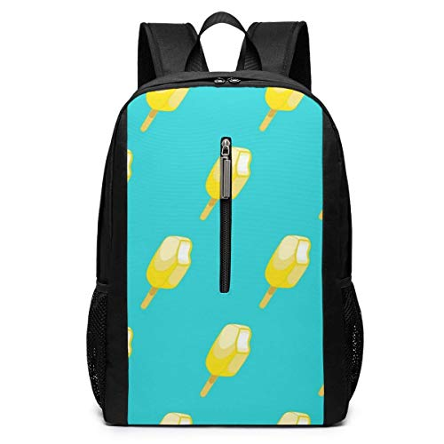 Ice Cream Seamless Pattern School Bookbags Computer Daypack for Travel Hiking Camping Laptop Backpack Boys Grils