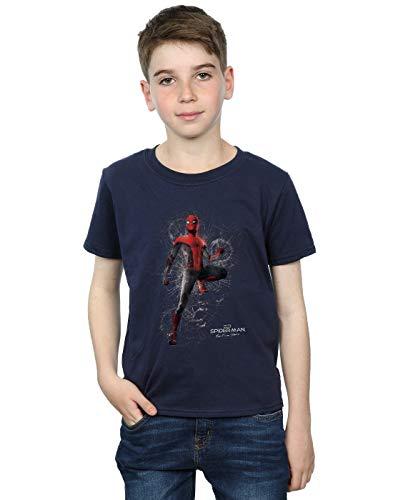 Marvel Niños Spider-Man Far from Home Upgraded Suit Camiseta Azul Marino 9-11 Y