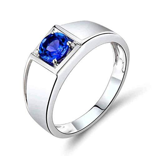 Bishilin Alianzas Oro Blanco 750, Diamante Esmeralda Ovalado En Forma de Corazón...