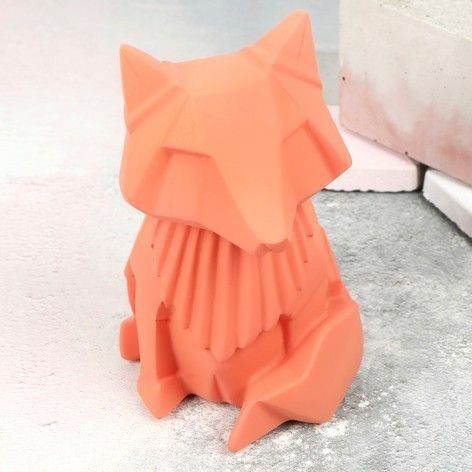 House of Disaster Lampe Veilleuse Renard Origami Petit modèle 13 x 6.5 x 11 cm Orange