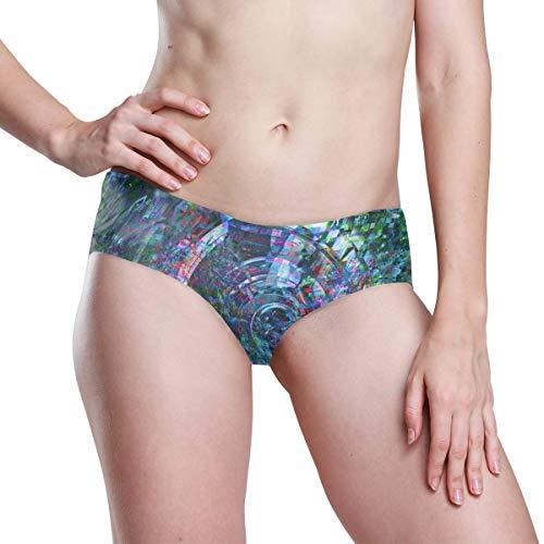 DEZIRO Damen Panty Glitch Pixel Seamless Panty Soft Stretch Bikini Unterwäsche Gr. 2 - 4 Jahre old, 1