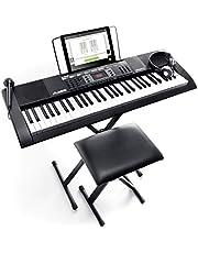 Alesis Melody 61 MKII - Piano Numérique Portable 61 Touches avec des Enceintes Intégrées, Casque, Micro, Stand de Piano, Pupitre et Tabouret