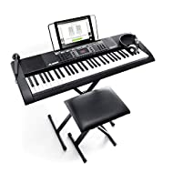 Feature packed digital piano for beginners – portable electric keyboard piano with 61 premium piano style keys and built-in speakers for practicing and performing to your friends and family Premium electric piano keyboard sounds - 300 voices (includi...