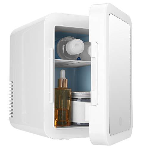 Asixxsix Refrigerador y Calentador eléctrico, refrigerador de cosméticos Completamente Cerrado de 4 litros, Exquisito para el Dormitorio del automóvil