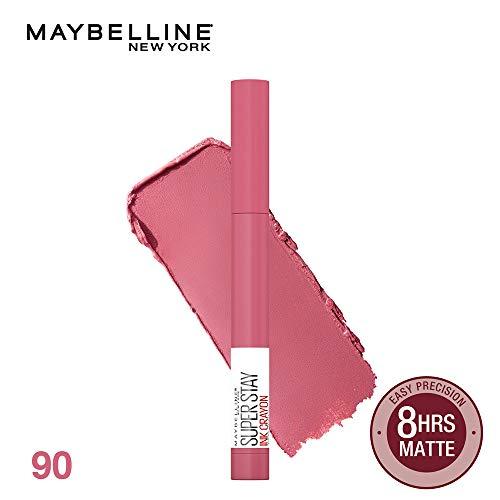 MAYBELLINE(メイベリン)SPステイインククレヨンマットリップライナー口紅90KEEPITFUNピンク系1.2g