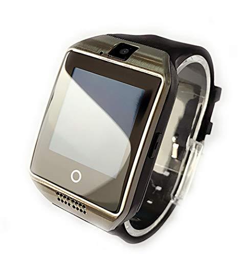 ELEGENCE-Z Smart Watch, touchscreen smartwatch met camera SIM/TF kaartsleuf slaapmonitor stappenteller fitness tracker smartphones voor Android Samsung Motorola mannen vrouwen (zwart)