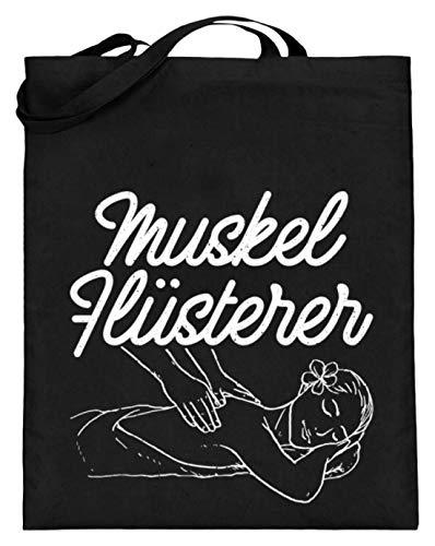 Chorchester Muskeln - Ideal für Alle Masseure - Jutebeutel (mit langen Henkeln) -38cm-42cm-Schwarz